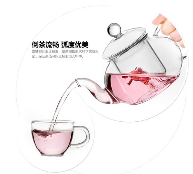 Quality Glass Teapot with Warmer Set